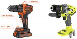 Black and Decker 20v Drill VS Ryobi 18v