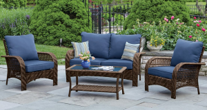 Patio Area with Patio Furniture Accessories