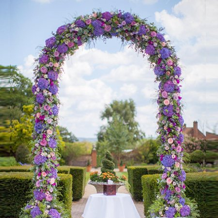 entrance decoration garden party with flower